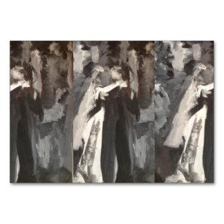 Hochzeits-Paar-Malerei-Tabellen-Karte