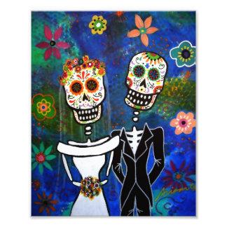 Hochzeits-Paar-Tag der toten Malerei Fotografien