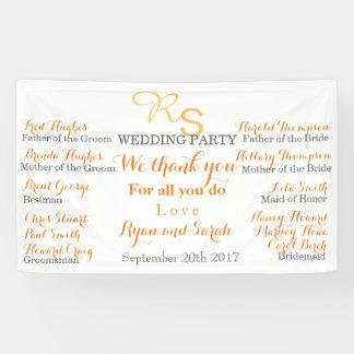 Hochzeits-Party Fahne Banner