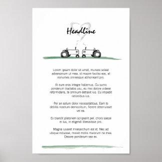 Hochzeits-Plakat/Menü-Schablone Poster