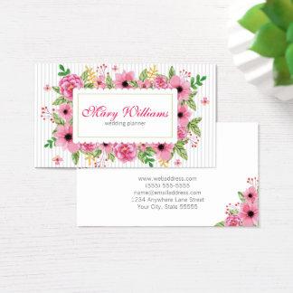 Hochzeits-Planer-BlumenVisitenkarte Visitenkarte