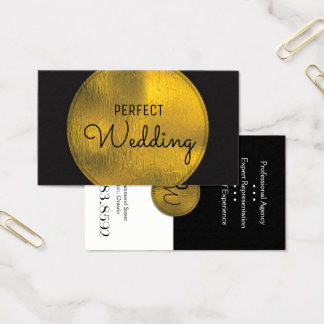 Hochzeits-Planer-Visitenkarte-stilvolle Goldfolie Visitenkarte