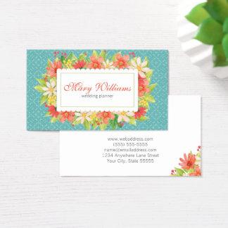Hochzeits-Planer-Visitenkarte Visitenkarte