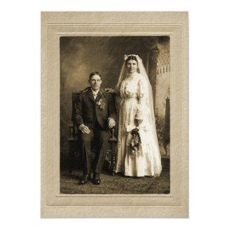 Hochzeits-Porträt 12,7 X 17,8 Cm Einladungskarte