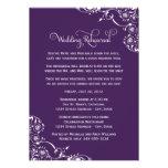 Hochzeits-Proben-und Abendessen-Einladungen | lila