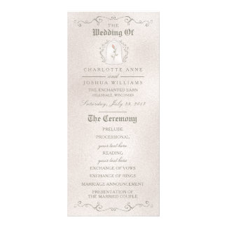 HOCHZEITS-PROGRAMM | elegante Rose der Schönheit Werbekarte