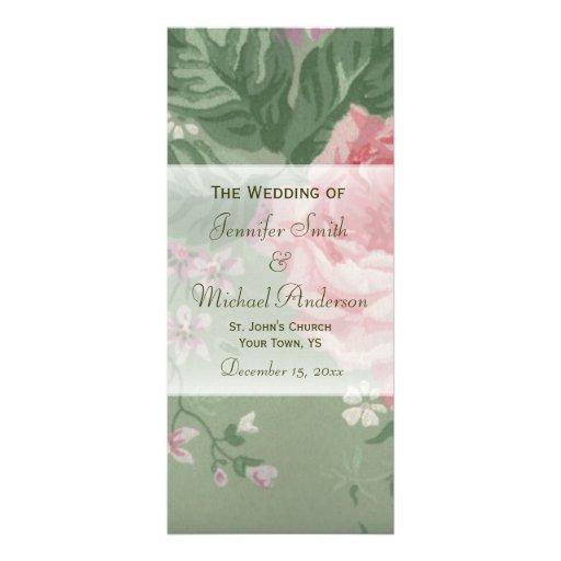 Grune Farbe Fur Körper : HochzeitsProgramm für grüne und rosa Bedruckte Werbekarten  Zazzle