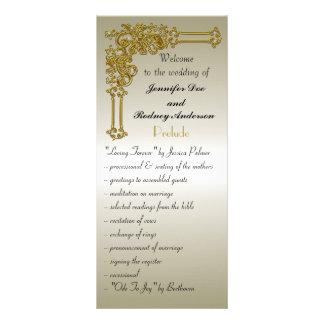 Hochzeits-Programm-Gestell-Karte Werbekarte