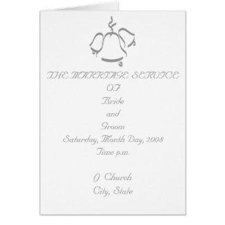 Hochzeits-Programm Karte