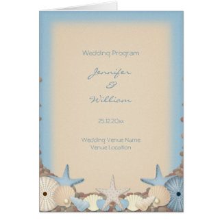 Hochzeits-Programm-schöne tropische Grußkarte