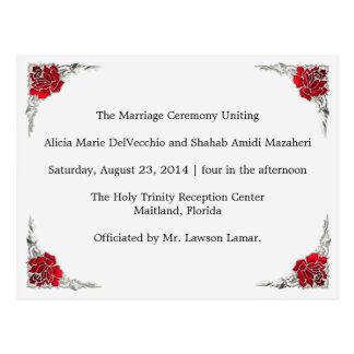 Hochzeits-Programm Shalicia Postkarte