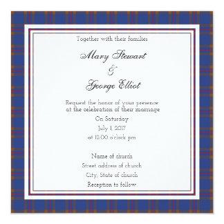 Hochzeits-Quadrat-Einladung Eliots schottische Karte