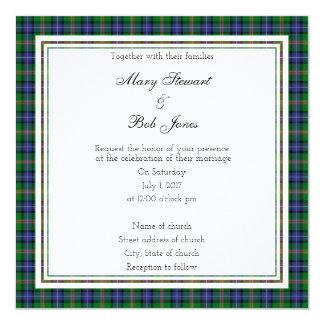Hochzeits-Quadrat-Einladung Jones schottische Karte