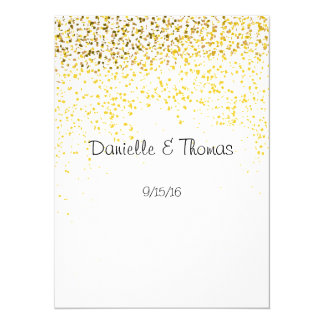 Hochzeits-Rat, elegant, GoldConfetti 14 X 19,5 Cm Einladungskarte