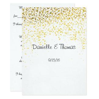 Hochzeits-Rat, elegant, GoldConfetti Karte