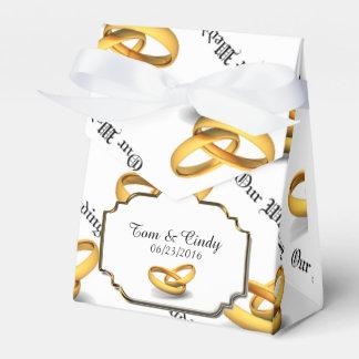 Hochzeits-Ring-Gastgeschenk-Kasten Geschenkschachteln