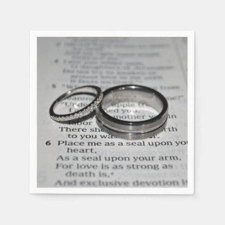 Hochzeits-Ring-Servietten-Set Servietten