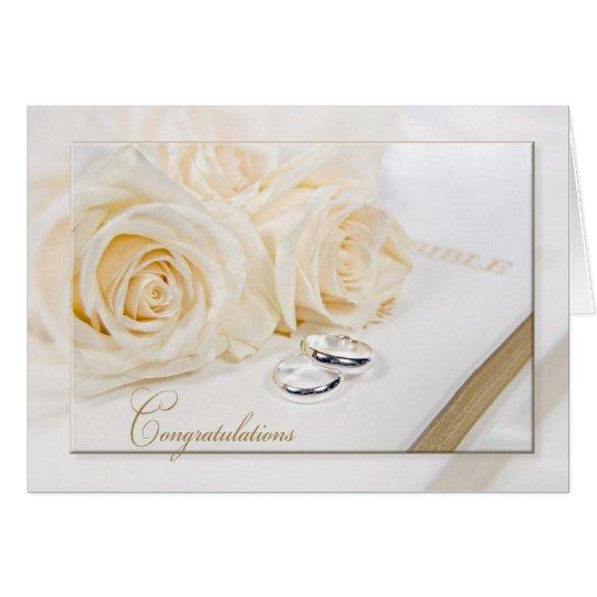 Hochzeits-Rosen-Blumenstrauß Karte
