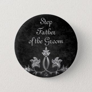 Hochzeits-Schritt-Vater Runder Button 5,1 Cm
