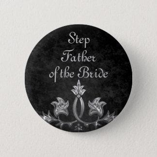Hochzeits-Schritt-Vaterbraut Runder Button 5,1 Cm