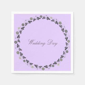 Hochzeits-Servietten-Lavendel Serviette