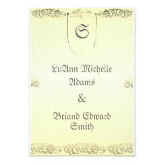 Hochzeits-Siegel-Einladung in der Creme und im 12,7 X 17,8 Cm Einladungskarte