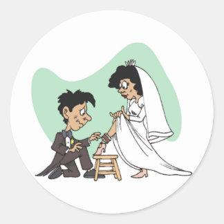 Hochzeits-Spaß Runder Sticker
