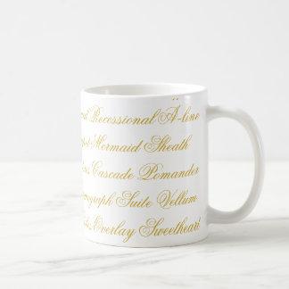 Hochzeits-Terminologie-Tasse Tasse