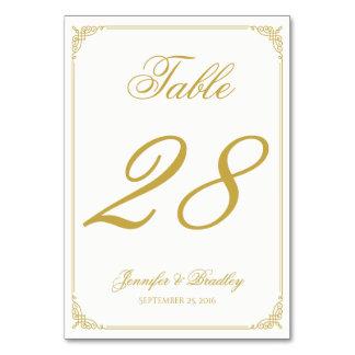 Hochzeits-Tischnummer in der Goldstrudel-Grenze Karte