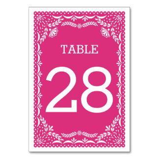 Hochzeits-Tischnummer in Papel Picado Entwurf Karte
