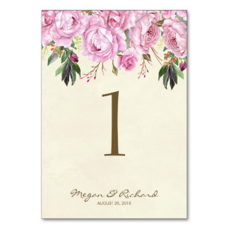 Hochzeits-Tischnummer kardiert lila Flieder des Karte