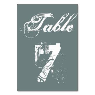 Hochzeits-Tischnummer kardiert personalisierte
