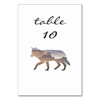 Hochzeits-Tischnummer-Western-rustikaler Karte