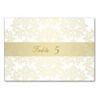 Hochzeits-Tischnummerkarten - Hochzeit Gold