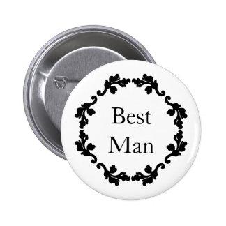 Hochzeits-Trauzeuge Runder Button 5,7 Cm
