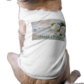 Hochzeits-Trauzeugin-Haustier-Kleidung Haustierhemd