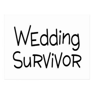 Hochzeits-Überlebender Postkarte