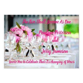 Hochzeits-und Empfangs-Einladung Karte