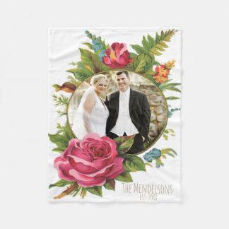 Hochzeits- und PaarblumenFotogrenze Fleecedecke