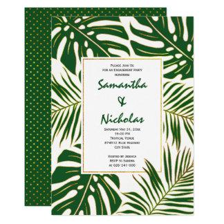 Hochzeits-Verlobungs-Party des tropischen Blätter 12,7 X 17,8 Cm Einladungskarte