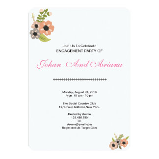 Hochzeits-Verlobungs-Party Einladungs-Karte 12,7 X 17,8 Cm Einladungskarte