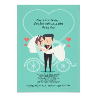 Hochzeits-Wagen-Posten-Hochzeits-Brunch-Einladung Karte