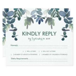 Hochzeits-Warterustikales Eukalyptus-Grün UAWG 12,7 X 17,8 Cm Einladungskarte