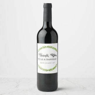 Hochzeits-Wein-Flaschen-Bevorzugung danken Ihnen Weinetikett