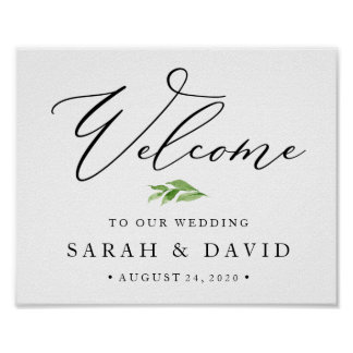 Hochzeits-Willkommensschild-Plakat Poster