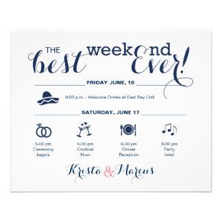 Hochzeits-Wochenenden-Route Flyer