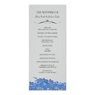 Hochzeits-Zeremonie-Programme 10,2 X 23,5 Cm Einladungskarte