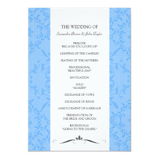 Hochzeits-Zeremonie-Programme 12,7 X 17,8 Cm Einladungskarte