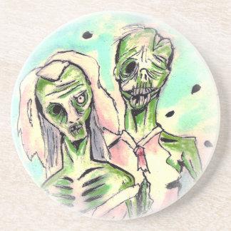 Hochzeits-Zombies Getränkeuntersetzer