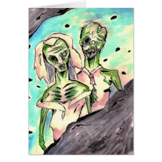 Hochzeits-Zombies Karte